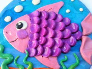 Делаем с детьми панно «Рыбка». Ярмарка Мастеров - ручная работа, handmade.