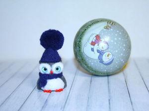 Создаем зимний сувенир. Пушистая флешка «Совушка» своими руками. Ярмарка Мастеров - ручная работа, handmade.