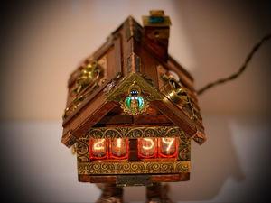 Видео 2: Часы Nixie в стиле стимпанк: избушка Бабы Яги. Ярмарка Мастеров - ручная работа, handmade.