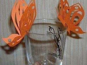 Ажурные бабочки из бумаги. Ярмарка Мастеров - ручная работа, handmade.
