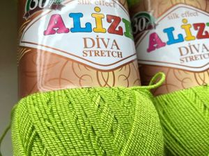 Пряжа Alize diva stretch. Ярмарка Мастеров - ручная работа, handmade.