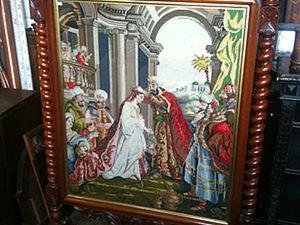 Вышитая мебель. Старинные схемы вышивки крестом и антикварные предметы интерьера. Ярмарка Мастеров - ручная работа, handmade.