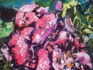 Мастер-класс по интуитивной живописи: пишем маслом картину «Абстракция с пионами». Ярмарка Мастеров - ручная работа, handmade.