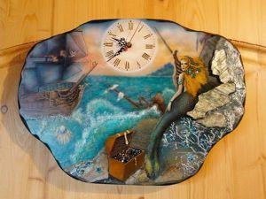 Изготавливаем часы с фантазийной росписью «На странных берегах». Ярмарка Мастеров - ручная работа, handmade.