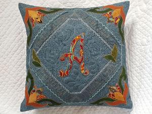 Шьем подушку с именной аппликацией. Ярмарка Мастеров - ручная работа, handmade.