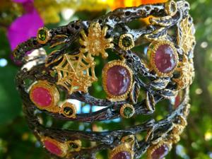 Акция на стильный авторский браслет с рубинами!. Ярмарка Мастеров - ручная работа, handmade.