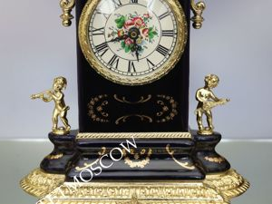 Часы каминные фарфор кобальт латунь золото ангел лев путти 1. Ярмарка Мастеров - ручная работа, handmade.
