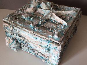 Мастерим шкатулку из картона своими руками в морском стиле. Ярмарка Мастеров - ручная работа, handmade.