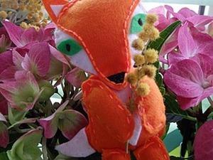 Шьем игрушку лисичку из фетра. Ярмарка Мастеров - ручная работа, handmade.