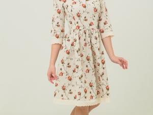 Платье с Цветочным Принтом Мрия. Ярмарка Мастеров - ручная работа, handmade.