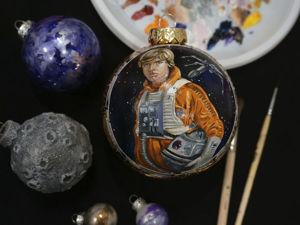 Рисуем портрет на елочном шаре Люк Скайуокер. Ярмарка Мастеров - ручная работа, handmade.