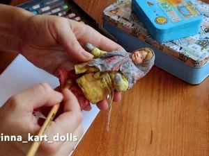 Painting Cotton Toys: Pastel Tinting. Livemaster - handmade