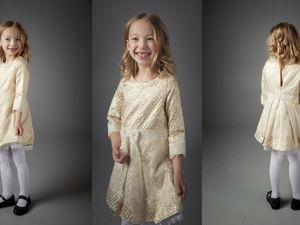 Платье детское: Ландыш золотистый. Ярмарка Мастеров - ручная работа, handmade.