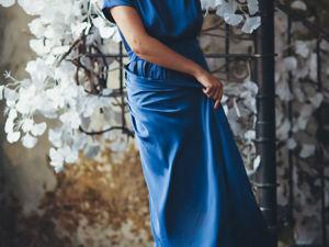 Платье  «Созвездие»  синий пепел со скидкой 40%. Ярмарка Мастеров - ручная работа, handmade.
