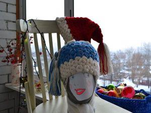 """Вяжем крючком шапочку  """"Снегурочка"""". Ярмарка Мастеров - ручная работа, handmade."""