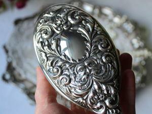 Дополнительные фотографии серебряной щетки для волос. Ярмарка Мастеров - ручная работа, handmade.