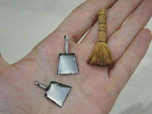 Видеоурок: веник и совок в миниатюре. Ярмарка Мастеров - ручная работа, handmade.
