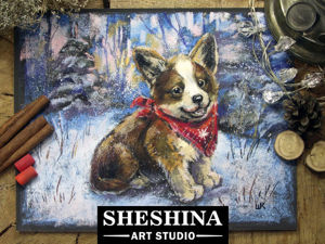Video DIY: Drawing a Winter Puppy with Dry Pastel. Livemaster - handmade