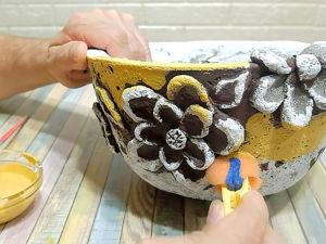 Яркий вазон из бетона своими руками. Ярмарка Мастеров - ручная работа, handmade.