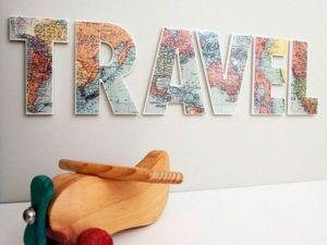 For Those Who Raves About Travelling: Maps in Interiors. Livemaster - hecho a mano - handmade.