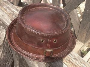 Новая кожаная шляпа. Ярмарка Мастеров - ручная работа, handmade.