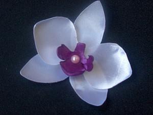 Орхидея из атласной ленты своими руками. Ярмарка Мастеров - ручная работа, handmade.