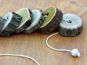 Колечки-спилы для шнуровок и наполнения сенсорных коробок. Ярмарка Мастеров - ручная работа, handmade.