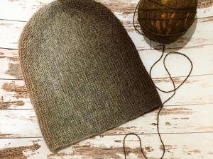 Вяжем шапку-бини укороченными рядами. Ярмарка Мастеров - ручная работа, handmade.