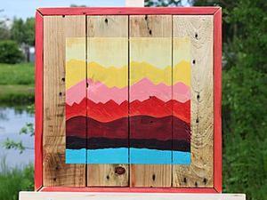 Как сделать яркое настенное панно из старых поддонов. Ярмарка Мастеров - ручная работа, handmade.