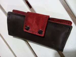Шьем женское портмоне из натуральной кожи. Ярмарка Мастеров - ручная работа, handmade.