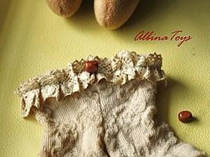 Немного интима, или снова о носочках, или МК по созданию винтажных штанишек для куклы.. Ярмарка Мастеров - ручная работа, handmade.