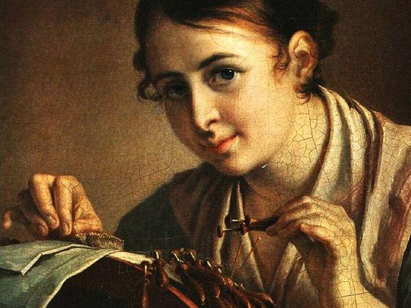 Кружевница-мастерица кружева свои плетет | Ярмарка Мастеров - ручная работа, handmade