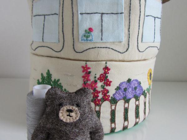 Шьем домик для мишки: мастер-класс   Ярмарка Мастеров - ручная работа, handmade