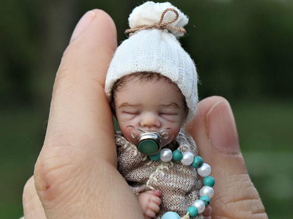 Мастерица лепит реалистичных младенцев, которые помещаются на ладошке | Ярмарка Мастеров - ручная работа, handmade