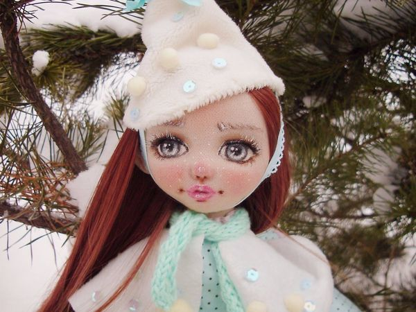 Создаем текстильную куклу «Юкико — ребенок снега» | Ярмарка Мастеров - ручная работа, handmade
