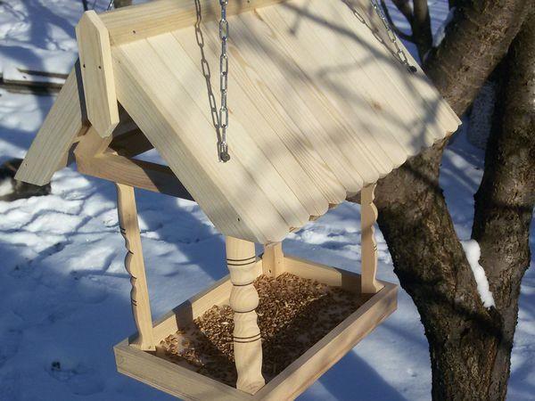 Делаем деревянную кормушку для птиц своими руками   Ярмарка Мастеров - ручная работа, handmade