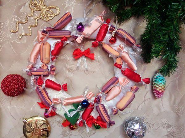 Мастерим необычный рождественский венок | Ярмарка Мастеров - ручная работа, handmade