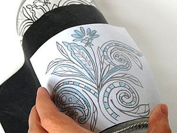 Перенесение рисунка на стекло | Ярмарка Мастеров - ручная работа, handmade