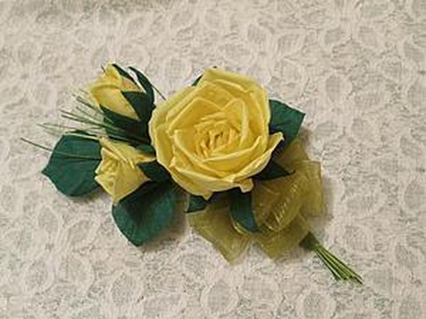 Делаем свадебную бутоньерку для жениха   Ярмарка Мастеров - ручная работа, handmade