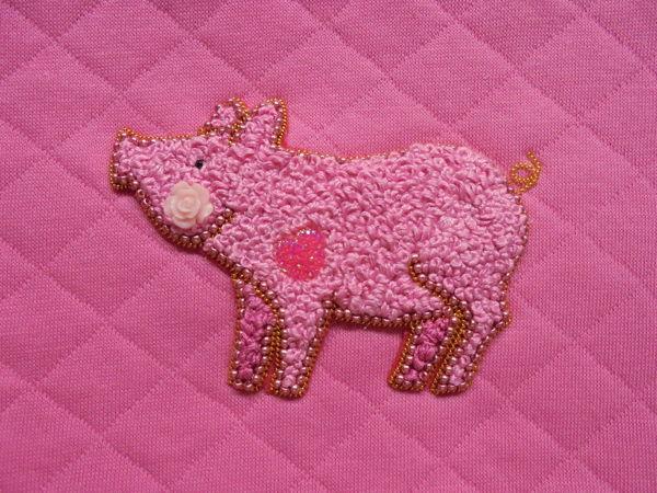 Вышиваем поросенка узелками | Ярмарка Мастеров - ручная работа, handmade