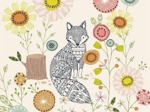 10 добрых осенних иллюстраций Bethan Janine, которые превратились в ткани   Ярмарка Мастеров - ручная работа, handmade