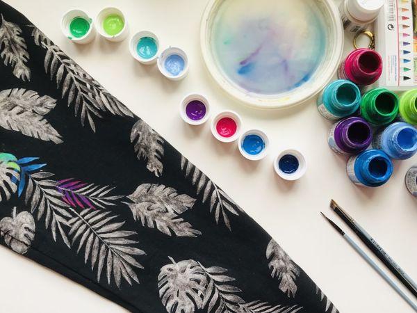 12 советов по росписи одежды акриловыми красками | Ярмарка Мастеров - ручная работа, handmade