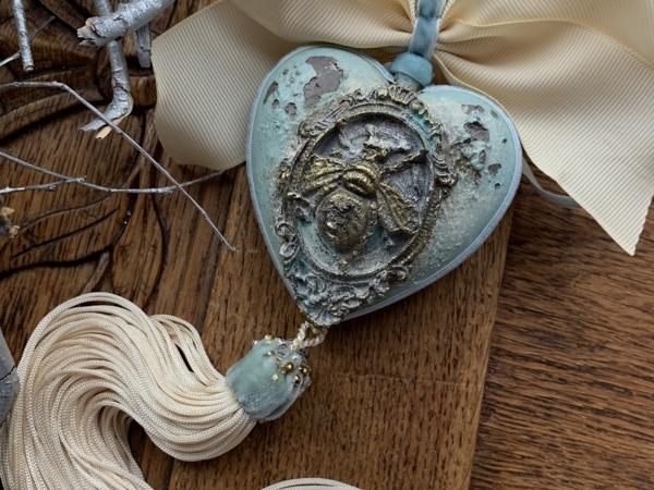 Сердечко с Пчелой | Ярмарка Мастеров - ручная работа, handmade