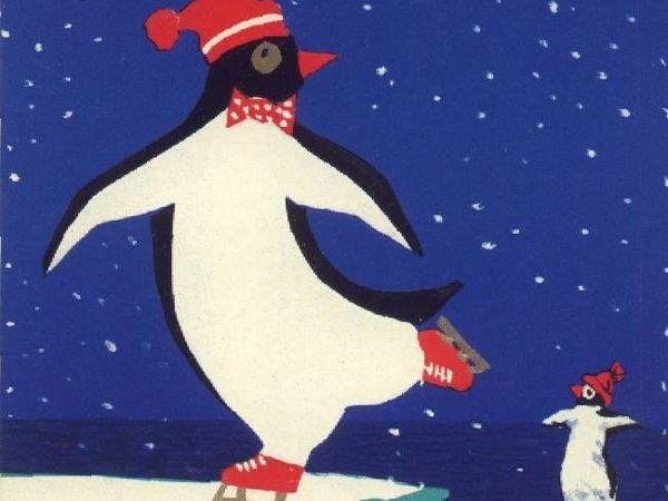 Пингвины  и не только на добрых советских новогодних открытках   Ярмарка Мастеров - ручная работа, handmade