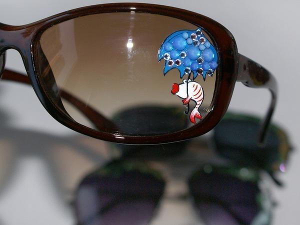 Декорируем солнечные очки росписью и стразами Сваровски: просто, быстро, креативно | Ярмарка Мастеров - ручная работа, handmade