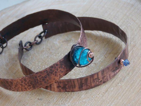 Как сделать фактурный медный браслет | Ярмарка Мастеров - ручная работа, handmade