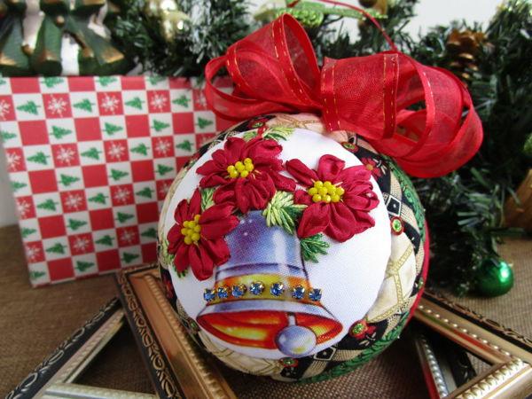 Ёлочный шар «Рождественский колокольчик» (видеопрезентация) от Yuliya Laborera | Ярмарка Мастеров - ручная работа, handmade
