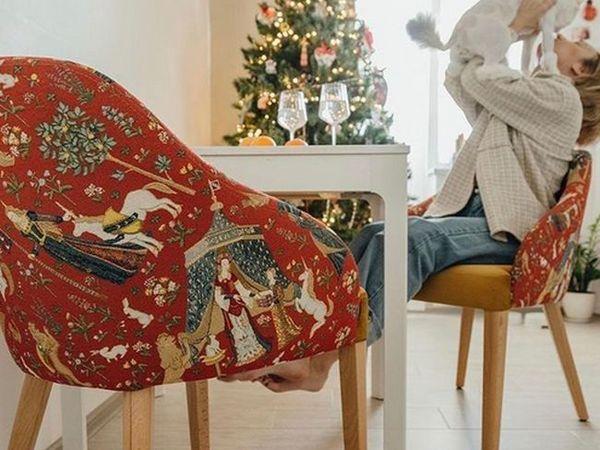 Шикарные образцы мебели обитые гобеленовой тканью Дама с единорогом | Ярмарка Мастеров - ручная работа, handmade