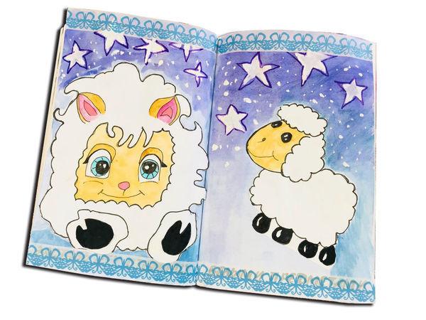 Рисуем овечек и записываем свой сон | Ярмарка Мастеров - ручная работа, handmade