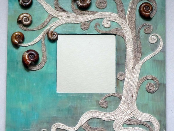 зеркала, декорированные натуральными материалами | Ярмарка Мастеров - ручная работа, handmade